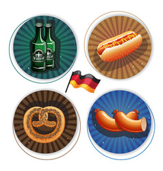 beer and snacks oktoberfest labels vector image