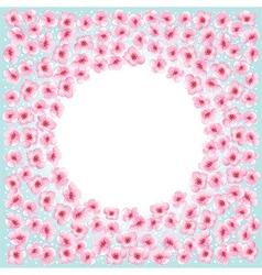 Blossom flowers frame vector image