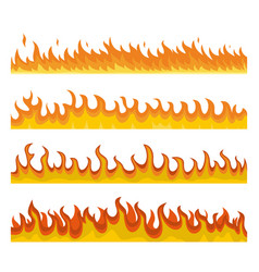 Bonfire night fire banner concept set flat style vector