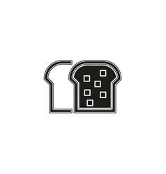 bread loaf - bakery symbol nutrition icon vector image