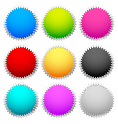 Bright colorful badge set vector