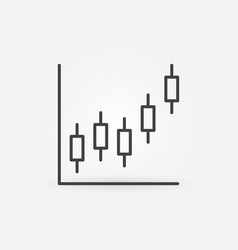 candlestick chart concept icon in outline vector image