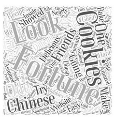 Chinese fortune cookies Word Cloud Concept vector