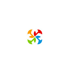 circle colorful shape spin logo vector image
