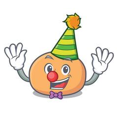Clown mochi mascot cartoon style vector