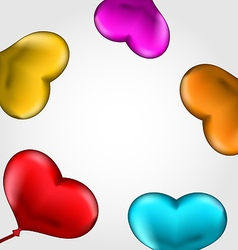Colourful hearts balloons isolated on white vector image