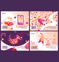 concept banners collection about growing vector image