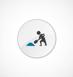 Construction works icon 2 colored vector