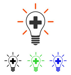 Creative medicine bulb flat icon vector