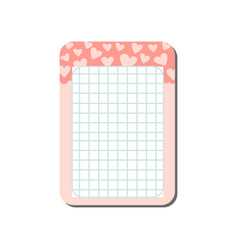 cute card with place for notes decorated with vector image