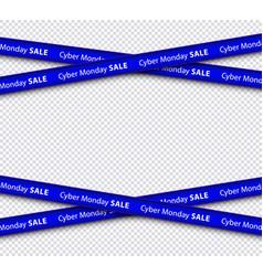 Cyber monday sale restriction black stripe vector