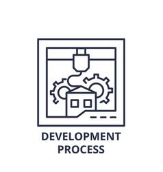 development process line icon concept development vector image