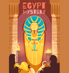 egyptian mummy mystery poster vector image