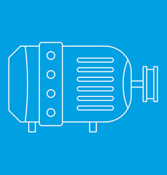 Electric motor icon outline style vector