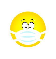 emoji wearing surgical mask vector image