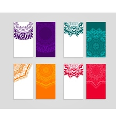 ethnic business cards collection vector image