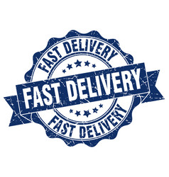 Fast delivery stamp sign seal vector