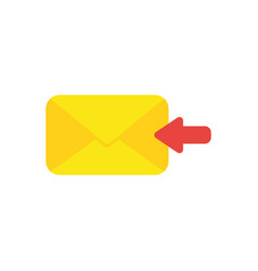 flat design concept of receive message or email vector image