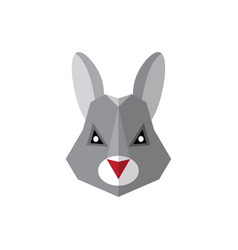 flat style icon rabbit on a white background vector image