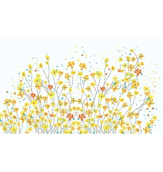 Floral banner with daffodil flowers vector image