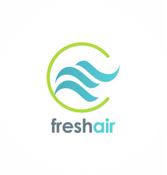 Fresh air wave logo vector