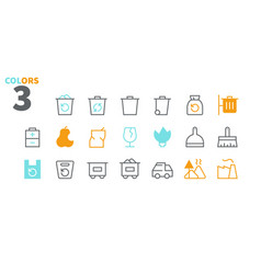 Garbage outlined pixel perfect well-crafted vector