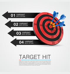 graphic information target with darts vector image