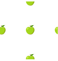 Green apples seamless background pattern with vector