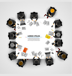 group business people working in office vector image