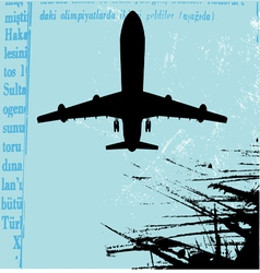 grunge airplane vector image