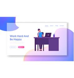 hardwork corporate company worker website landing vector image