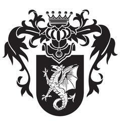 Heraldic silhouette No43 vector