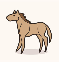 horse cartoon icon graphic vector image