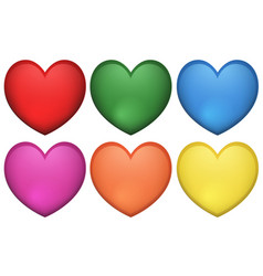 Icon design heart shape in many colors vector