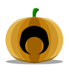 Isolated cyclops halloween pumpkin vector