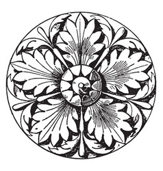 Italian rosette made of five divisions vintage vector