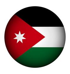Jordan flag button vector image