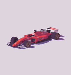 low poly formula racing car vector image