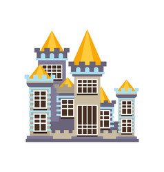 medieval kingdom stone castle vector image