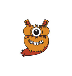 Monster one eye vector