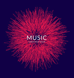 Music poster abstract background vector