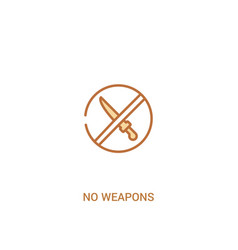 no weapons concept 2 colored icon simple line vector image