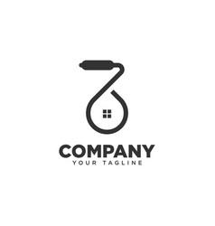 Paint home logo design template vector