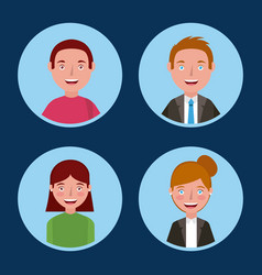 people learning concept vector image