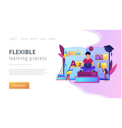Personalized learning concept landing page vector