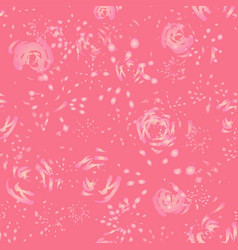 pink holographic abstract floral background vector image