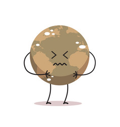 poisoned earth character air pollution cartoon vector image