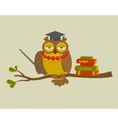 Portrait of fashionable owl teacher vector