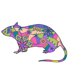 Rat colorful vector