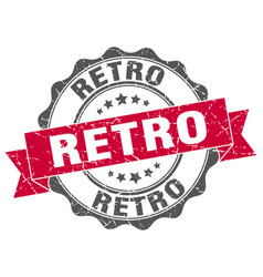 Retro stamp sign seal vector